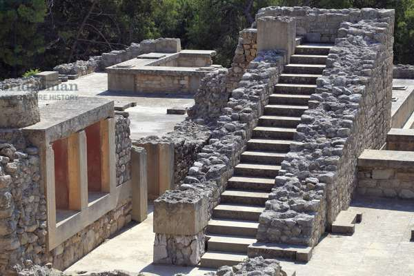Oriental part of the palace of the King Minos at Knossos between the queen megaron and the central court. Crete. 1600-1450 BC
