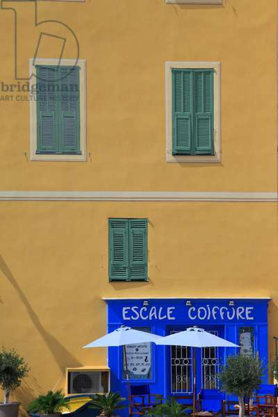 Typical style of the architecture of south east of France. French Riviera .