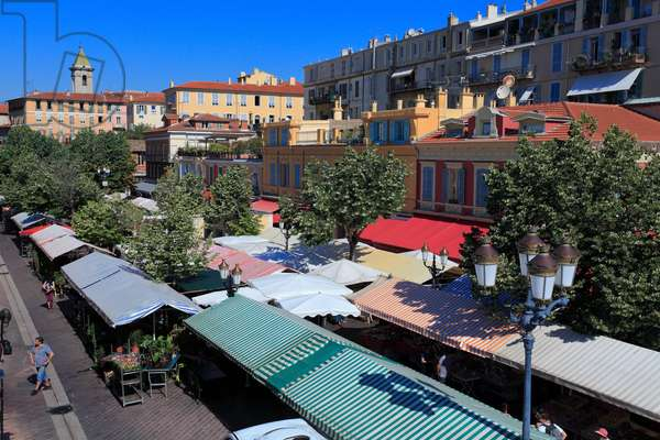 "Market place on ""Cours Saleya"" in Nice. French Riviera."