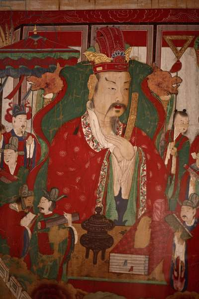 Chogang, the Second King of Hell (detail), 1798 (ink and colour on silk)