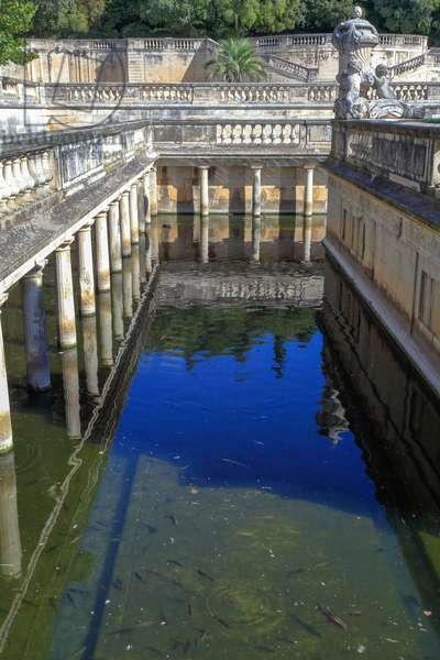 The fountain gardens and Nymphaeum in Nîmes
