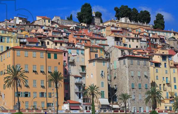 Old town in Menton. French Riviera .