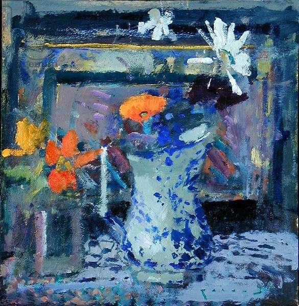 August Flowers (oil on board)