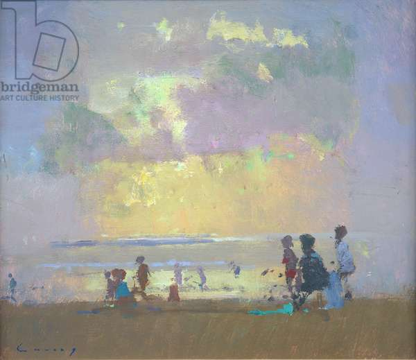 August Beach (oil on board)