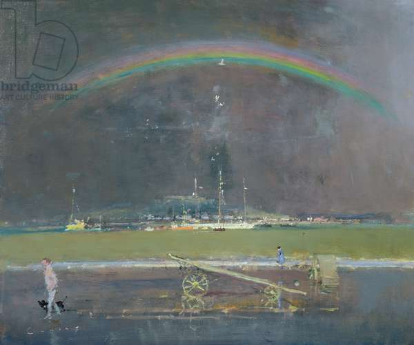 Teignmouth, Rainbow (oil on board)