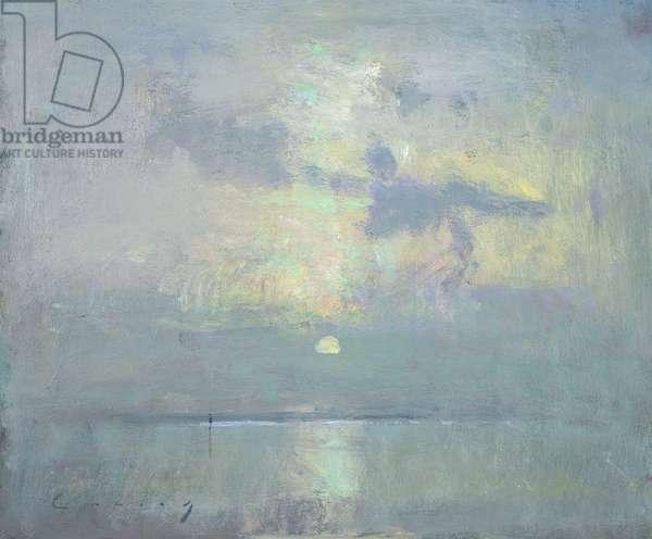 Solitude (oil on board)