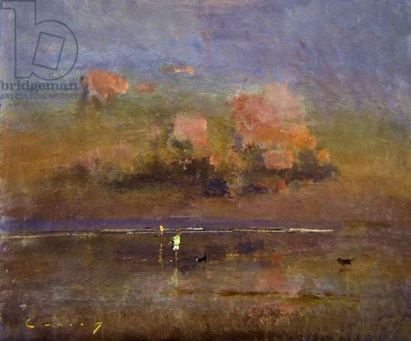 Late evening, Camber I (oil on board)