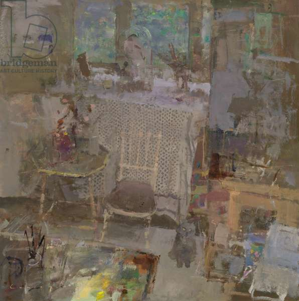 Studio with Cat, 2002