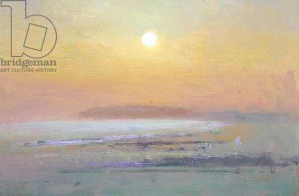 Camber Sands blue sun (oil on board)