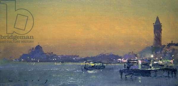 Venice Evening (oil on board)