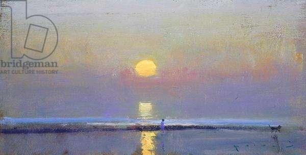Dawn Walk (oil on board)