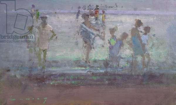 Bathers, Low Tide (oil on board)
