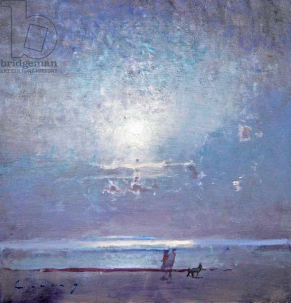 Moonrise, Camber (oil on board)