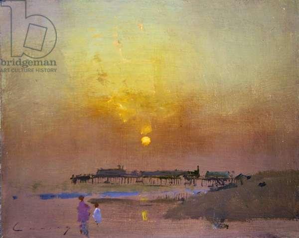 Hastings Pier, September Sun (oil on board)
