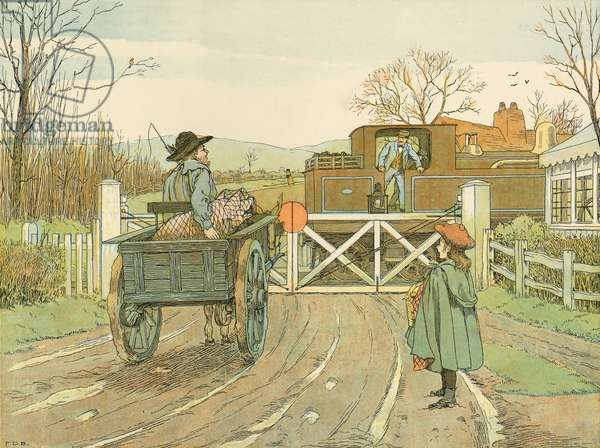Engine-driver, illustration from 'Four And Twenty Toilers', engraved and printed by Edmund Evans at the Racquet Court Press, pub. by Grant Richards, London, 1900 (colour litho)