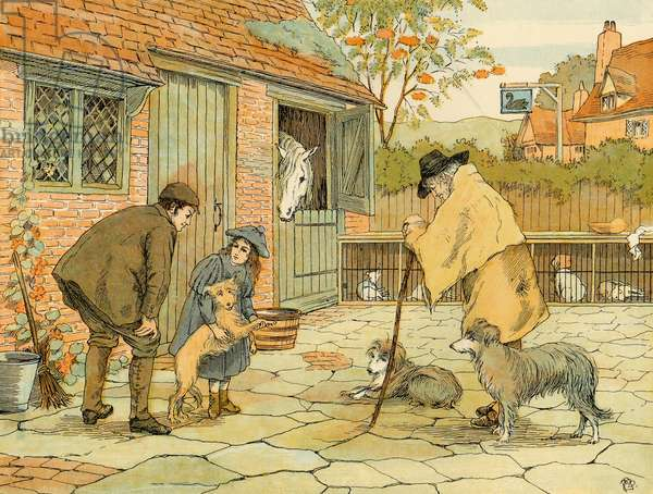 Vet, illustration from 'Four And Twenty Toilers', engraved and printed by Edmund Evans at the Racquet Court Press, pub. by Grant Richards, London, 1900 (colour litho)