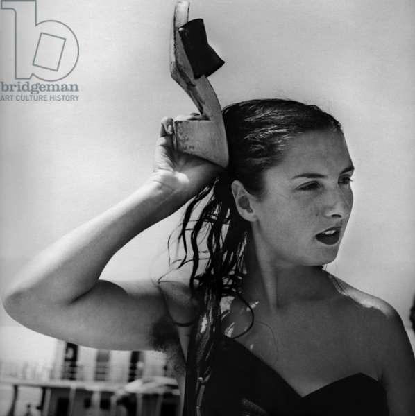 Viareggio, 1953.On the beach in summer