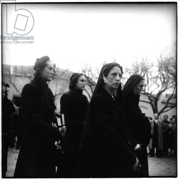 Montpellier, December 1952. The funeral of Queen Helena