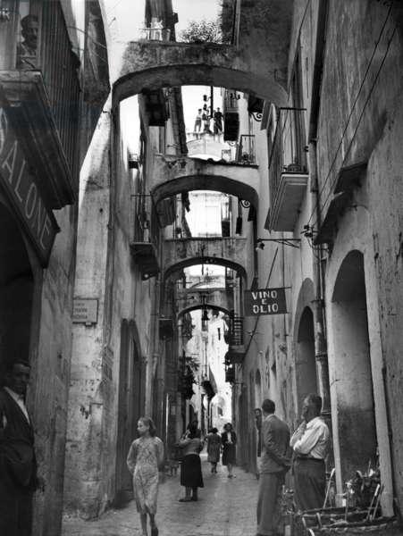 Salerno, 1952. Alleys of Salerno