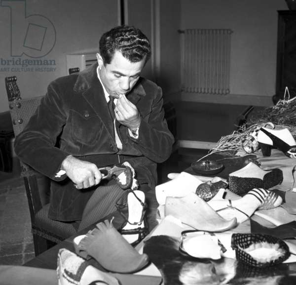 Fashionable. Florence, 1951. Salvatore Ferragamo in his workshop
