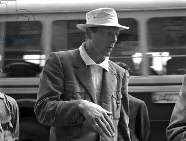 Naples, 1952. American actor Danny Kay