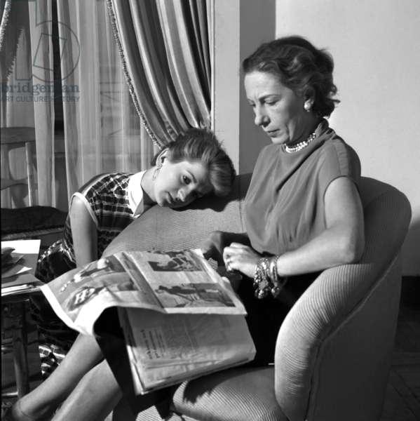 Rome, 1953. Fashion designer Giovannelli Sciarra