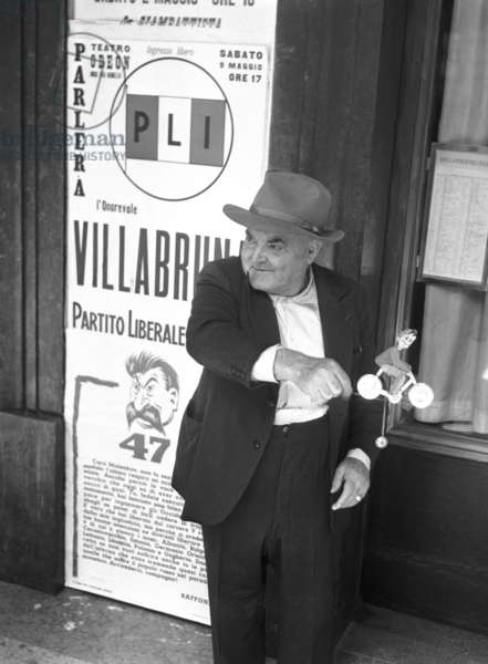 Milan, 1953. Political elections of 1953, election posters of the Liberal Party
