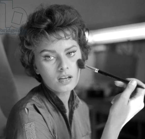 Roma, Italia, 1956, Sophia Loren agli inizi della carriera (b/w photo)