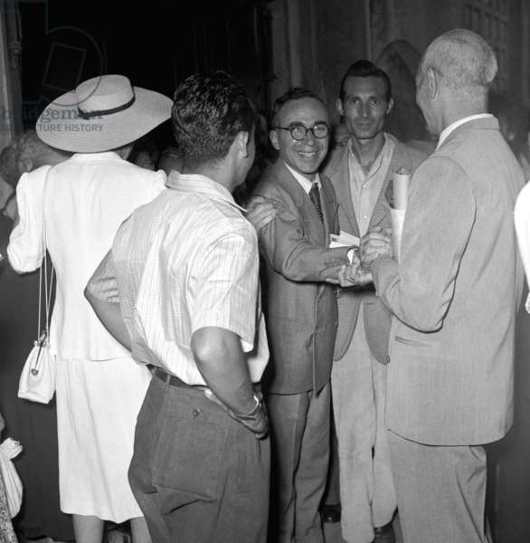 Florence, 1952. The former mayor of Florence Giorgio La Pira