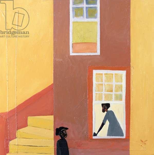 Window Talk, 2001 (mixed media on canvas)