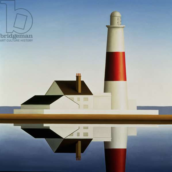 Lighthouse, Blue Sky, 1999 (oil on canvas)