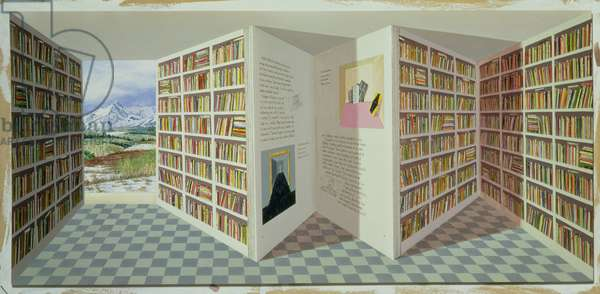 In the Big Book, 1999 (oil on board)