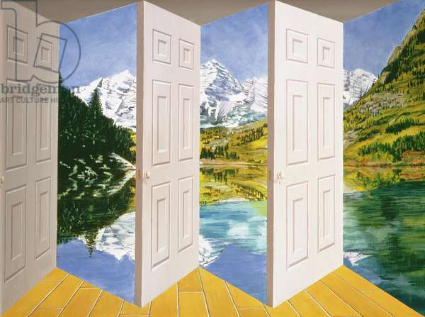 Maroon Bells, 1999 (oil on board construction)