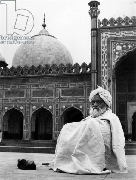 Meditation, Pakistan, 1980 (b/w photo)