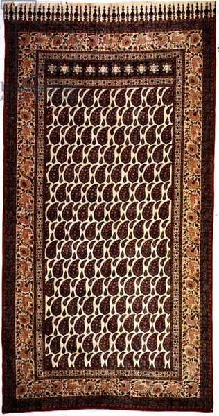 The Poor Jews' Carpet, Iranian-Jewish, from Isfahan, c.1850 (block printed textile)