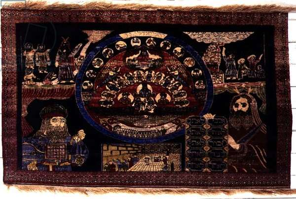 The Exodus of Israel from Egypt, Jewish carpet probably made by Yemeni emigrants in Israel, c.1950 (cotton and silk)