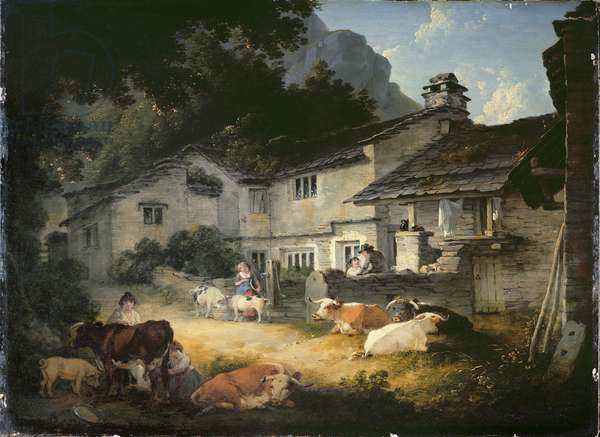 The Painter's Home, Ambleside, 1803 (oil on panel)