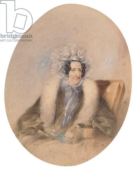 Lady Boynton  (1800-74) (pencil, w/c & gouache on paper)
