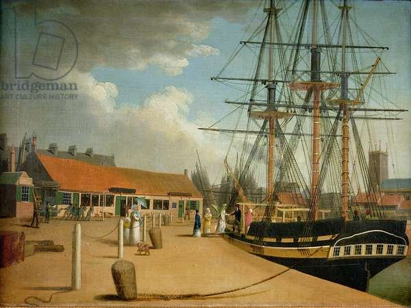Westerdale's Yard and the Wellington from the New Dock, c.1820 (oil on canvas)