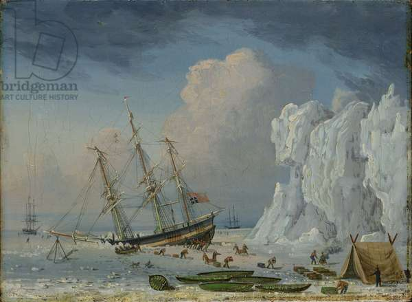Caught in the Ice, 1830 (oil on canvas)