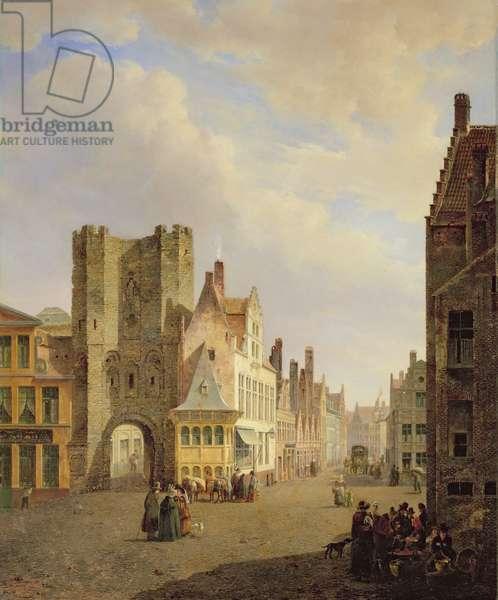 Street Scene, 1833 (oil on panel)