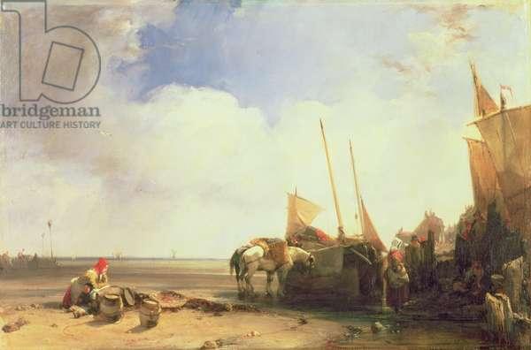 Coastal Scene in Picardy, c.1826 (oil on canvas)