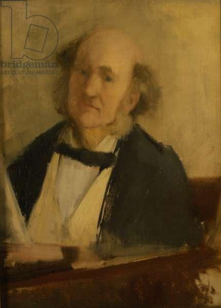 Portrait of Charles Kensington Salaman, 1875-1900 (oil on canvas)