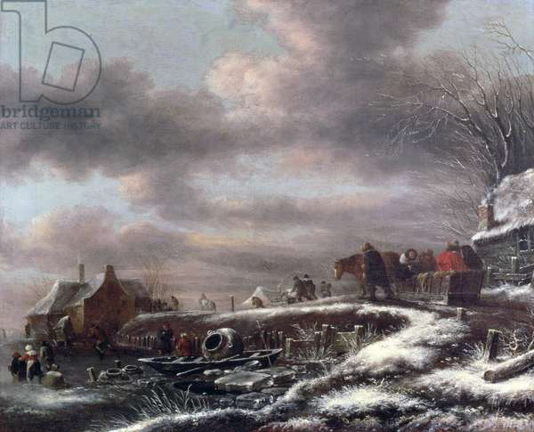 Winter Landscape (oil on canvas)