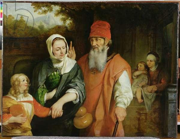 The Dismissal of Hagar, 1660s (oil on canvas)