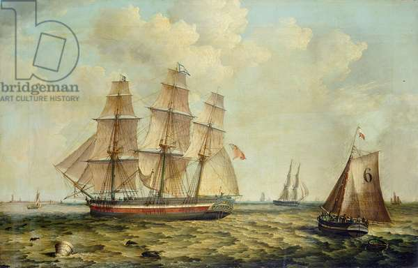 The Three-Masted Barque 'Halcyon' of Hull, 1832 (oil on canvas)