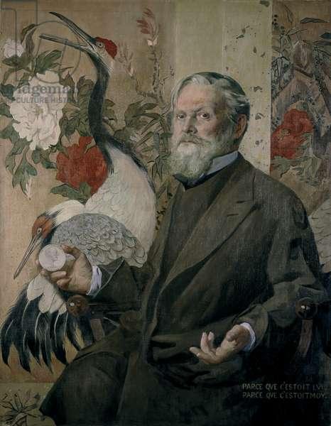 Portrait of Frank Brangwyn (1867-1956) (oil on canvas)