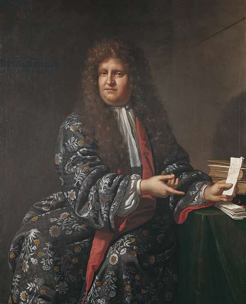 Portrait of Nathaniel Chomley, 1687 (oil on canvas)