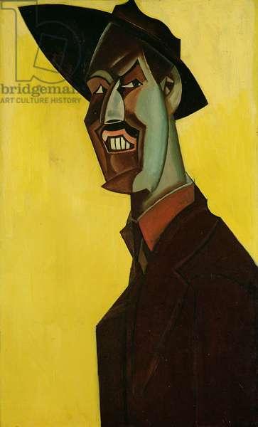 Mr Wyndham Lewis as a Tyro, c.1920-21 (oil on canvas)