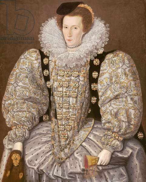 Portrait of a Lady of the Elizabethan Court, c.1595 (oil on canvas)